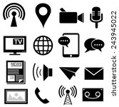 media and communication icons... | Shutterstock .eps vector #243945022