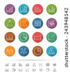 chart and graph icon set  thin... | Shutterstock .eps vector #243948142
