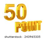 loyalty program 50points | Shutterstock . vector #243965335