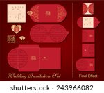 a complete wedding invitation... | Shutterstock .eps vector #243966082