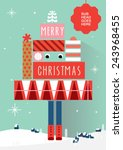 christmas tree greetings ... | Shutterstock .eps vector #243968455