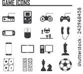 game entertaining icons | Shutterstock .eps vector #243968458