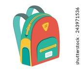vector schoolbag  vector icon...   Shutterstock .eps vector #243971536