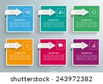 6 squares with arrows on the... | Shutterstock .eps vector #243972382