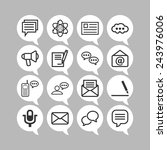 set of simple icons for chat ... | Shutterstock .eps vector #243976006