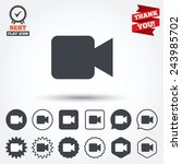 video camera sign icon. video... | Shutterstock .eps vector #243985702