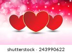valentine's day with bokeh...   Shutterstock .eps vector #243990622