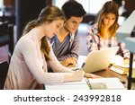 focused classmates studying... | Shutterstock . vector #243992818