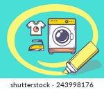 vector illustration of marker... | Shutterstock .eps vector #243998176
