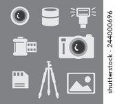 camera photo tripods icon...   Shutterstock .eps vector #244000696