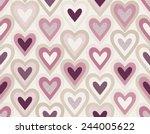 Seamless Dots Texture Heart...