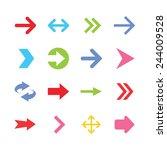 arrow icon set. vector... | Shutterstock .eps vector #244009528