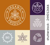 Vector Organic Product Label I...