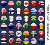 world flags vector collection.... | Shutterstock .eps vector #244014082
