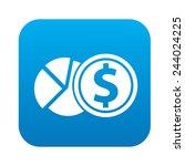 money icon on blue button ...