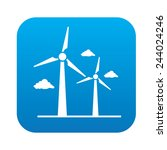 wind turbine icon on blue... | Shutterstock .eps vector #244024246