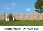 Dog's House On Grass In The...