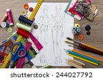 fashion design | Shutterstock . vector #244027792