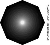 geometric object of rotation... | Shutterstock .eps vector #244030942