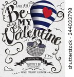 valentine's day typography art...