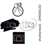 vector illustration of a camera ... | Shutterstock .eps vector #244036132