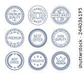 vector set of premium labels... | Shutterstock .eps vector #244036195