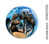 fantastic colorful ball  | Shutterstock . vector #244037032