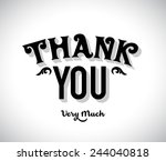 thank you very much type design | Shutterstock .eps vector #244040818