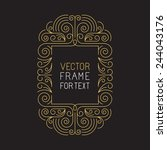 Vector Geometric Frame With...