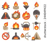fire icon | Shutterstock .eps vector #244049422