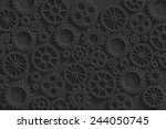creative black gears background.... | Shutterstock .eps vector #244050745
