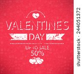 template valentines day up to... | Shutterstock .eps vector #244051372