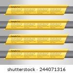 gold modern text box template... | Shutterstock .eps vector #244071316