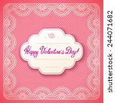 vintage valentine card with... | Shutterstock .eps vector #244071682