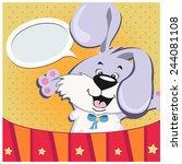 vector illustration of funny... | Shutterstock .eps vector #244081108