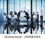 business people coorperate... | Shutterstock . vector #244081465