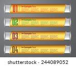 gold modern old  text box... | Shutterstock .eps vector #244089052