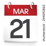 vector of a calendar of the...