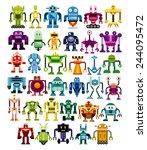 vector set of different cartoon ... | Shutterstock .eps vector #244095472