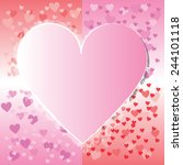 valentine's day background with ... | Shutterstock .eps vector #244101118