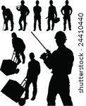 fine vector image of man tools...   Shutterstock .eps vector #24410440