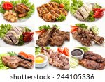 Постер, плакат: collage of different meals
