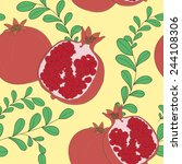 vector seamless pattern with... | Shutterstock .eps vector #244108306
