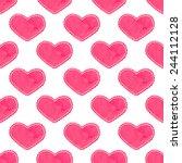 watercolor seamless pattern... | Shutterstock .eps vector #244112128
