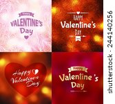 happy valentine's day... | Shutterstock .eps vector #244140256