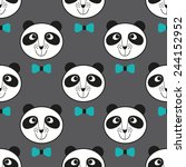 seamless pattern with cute... | Shutterstock .eps vector #244152952