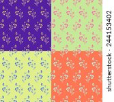 set of seamless backgrounds... | Shutterstock . vector #244153402