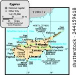 cyprus country map | Shutterstock .eps vector #244159618