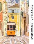 lisbon's gloria funicular... | Shutterstock . vector #244165612