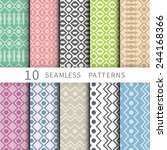 vector seamless patterns set.... | Shutterstock .eps vector #244168366